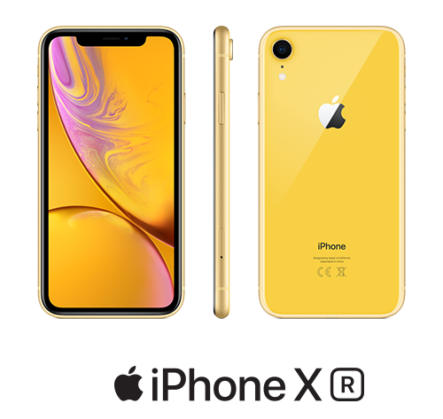 iPhone XR żółty