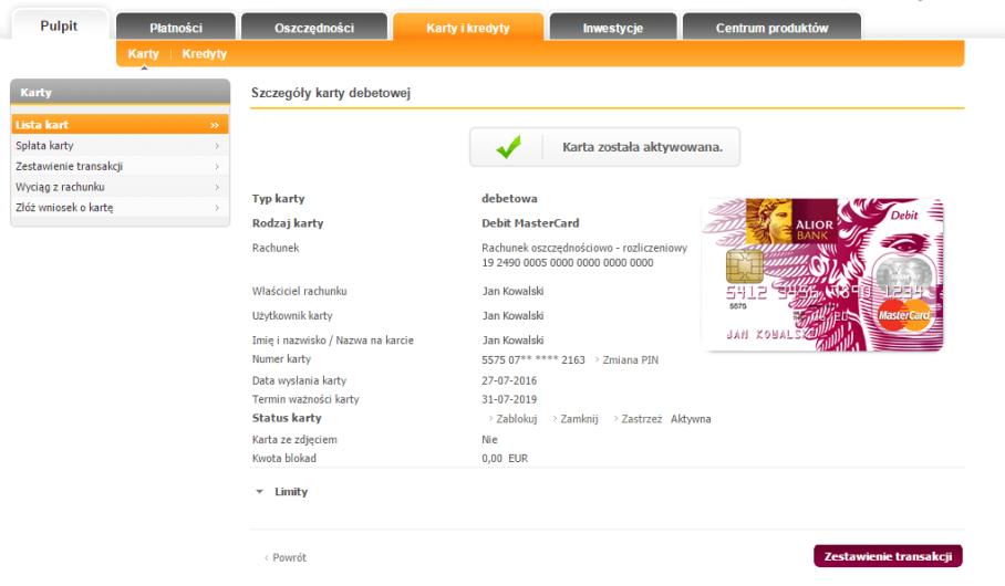 Aktywacja Karty W Bankowosci Internetowej Alior Bank
